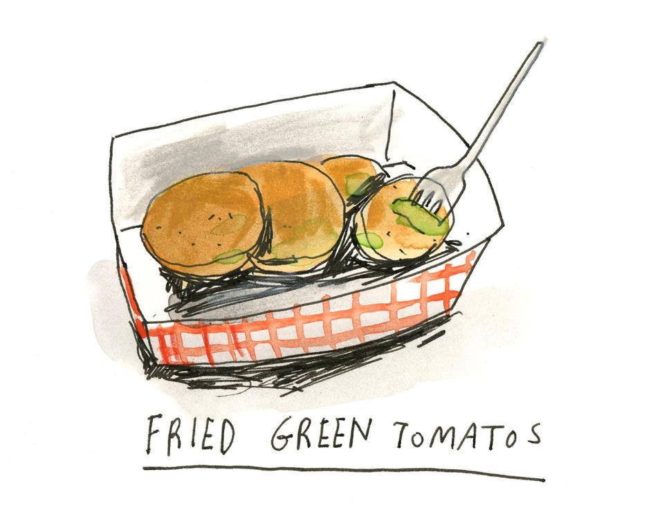 Pomodori Verdi Fritti 1